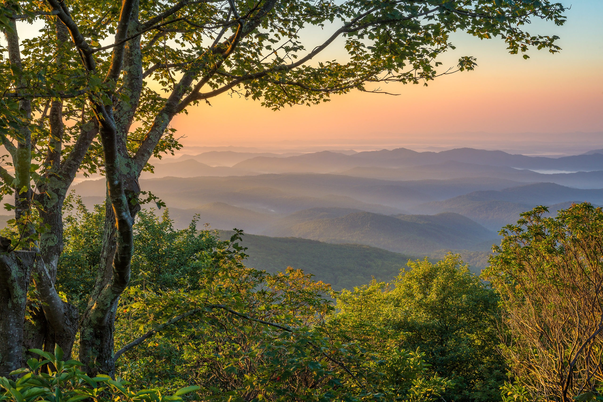 Layeredmorning-light-Appalachian-Mountains